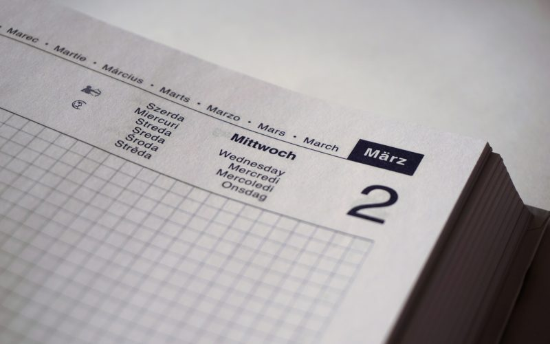 Ilustracja katrtki z kalendarza